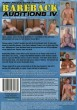 Bareback Auditions 4 DVD - Back