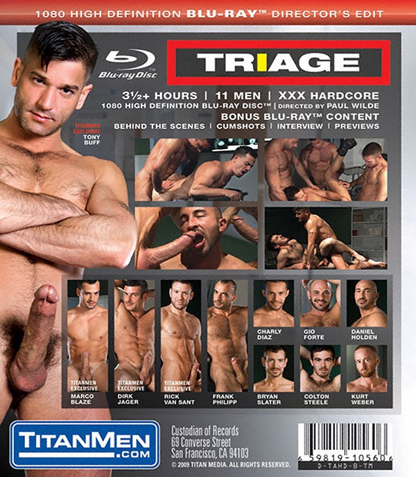 Triage BLU-RAY - Back
