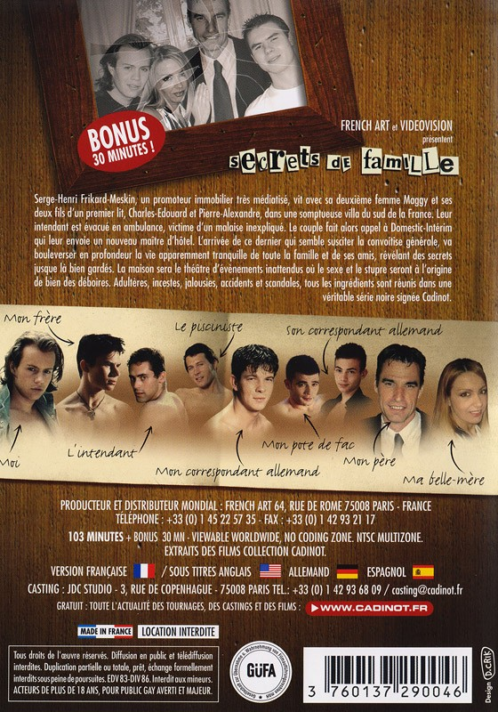 Secrets de famille DVD - Back