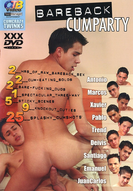 Bareback Cumparty DVD - Front