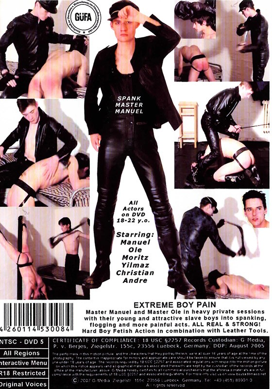 Extreme Boy Pain DVD - Back