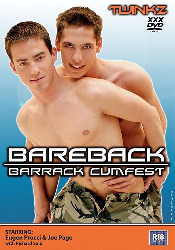 Bareback Barrack Cumfest DVD - Front