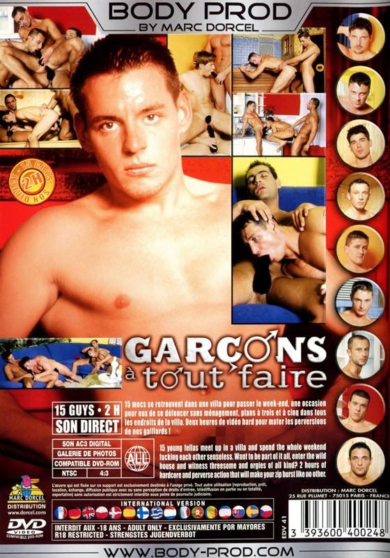 Garçons à Tout Faire DVD - Back