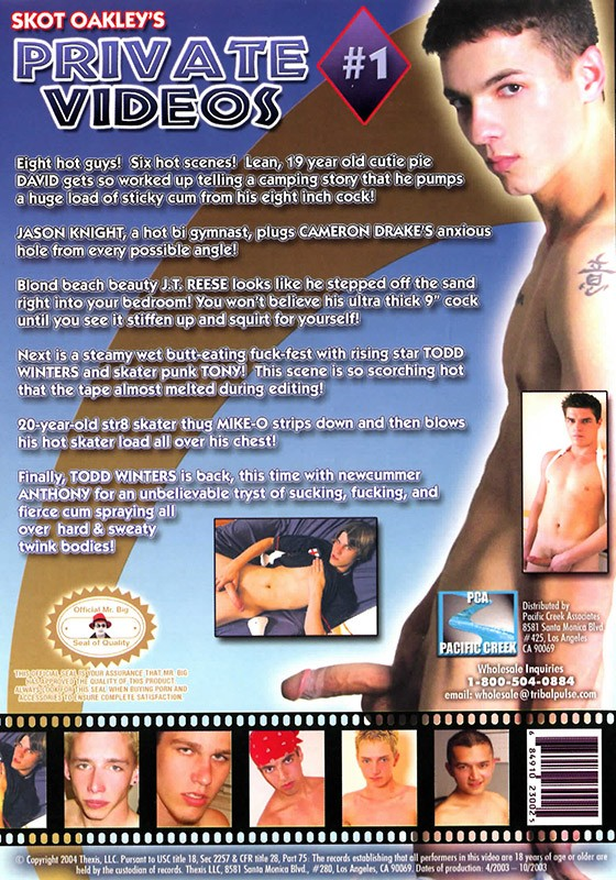 Skot Oakley's Private Videos #1 DVD - Back