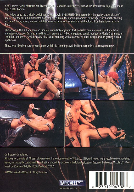 Leatherpunks DVD - Back