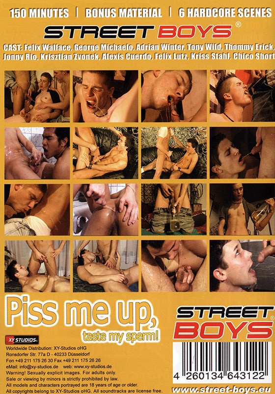 Piss Me Up, Taste My Sperm DVD - Back