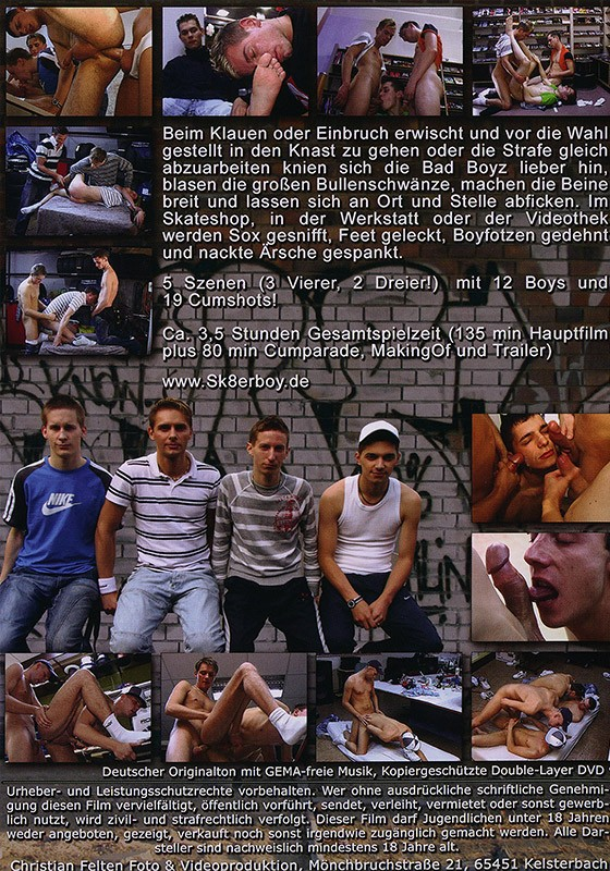 Bad Boyz DVD - Back