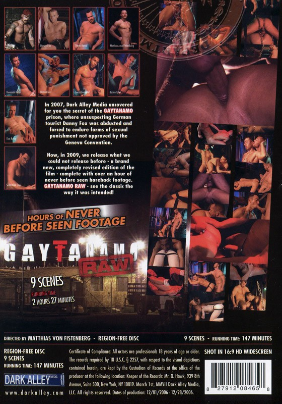 Gaytanamo Raw DVD - Back