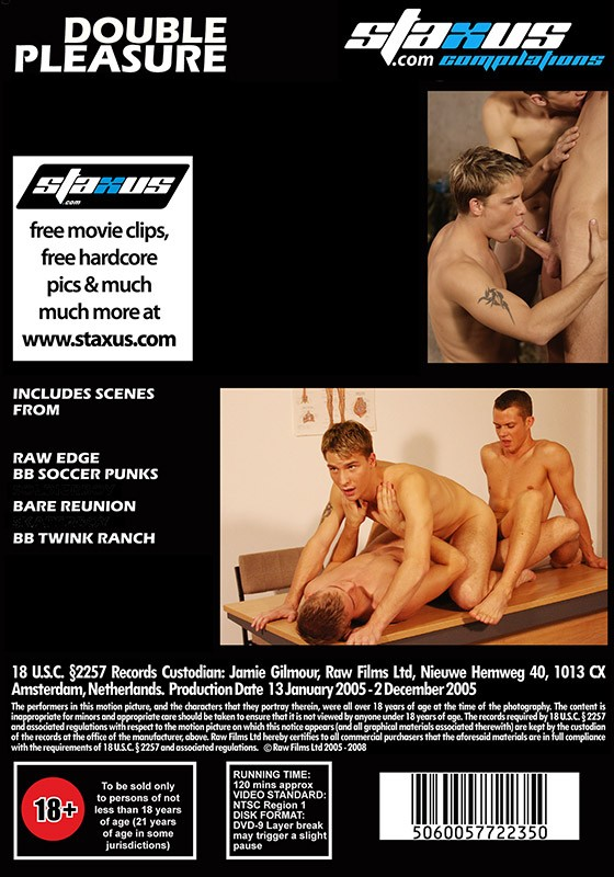 Staxus Collection: Double Pleasure DVD - Back