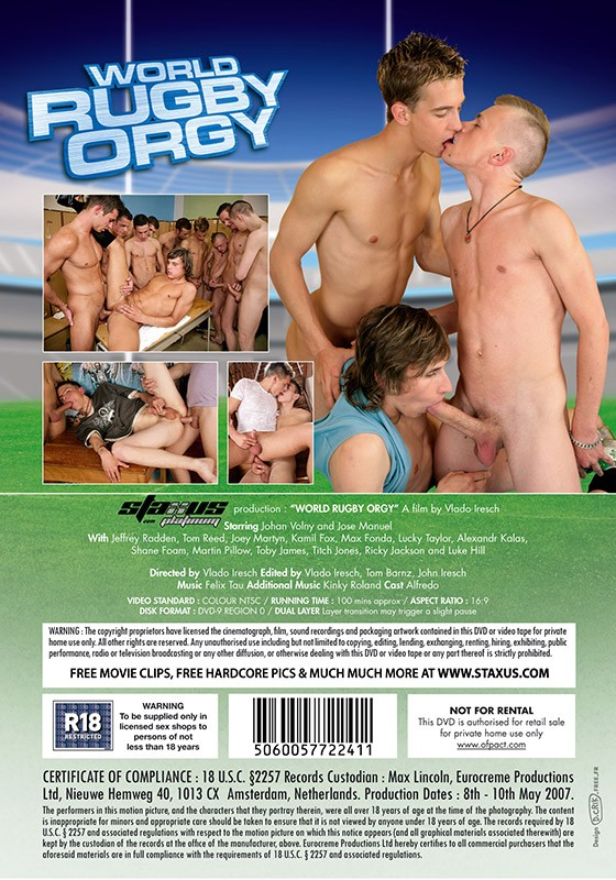 World Rugby Orgy DVD - Back