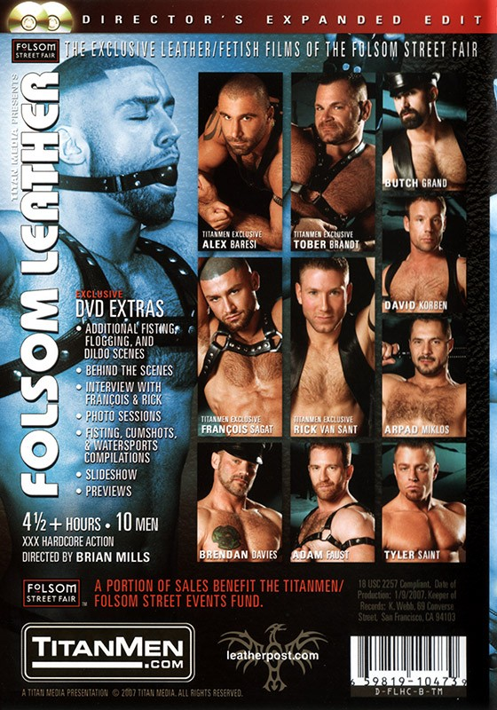 Folsom Leather DVD - Back