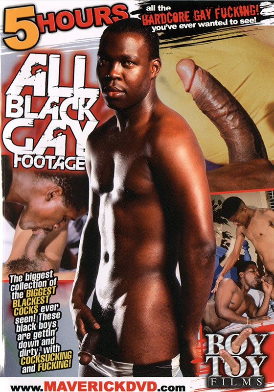 All Black Gay Footage DVD - Front