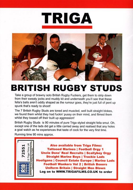 British Rugby Studs DVD - Back