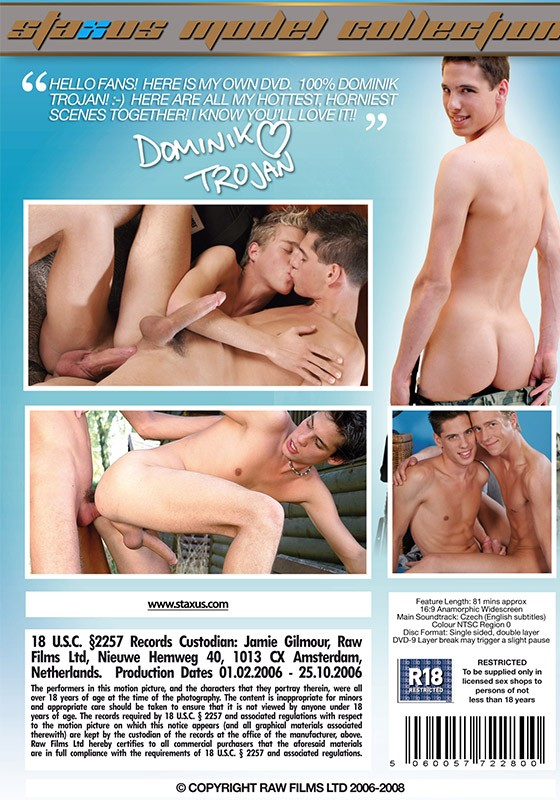 Staxus Model Collection 08: Dominik Trojan DVD - Back