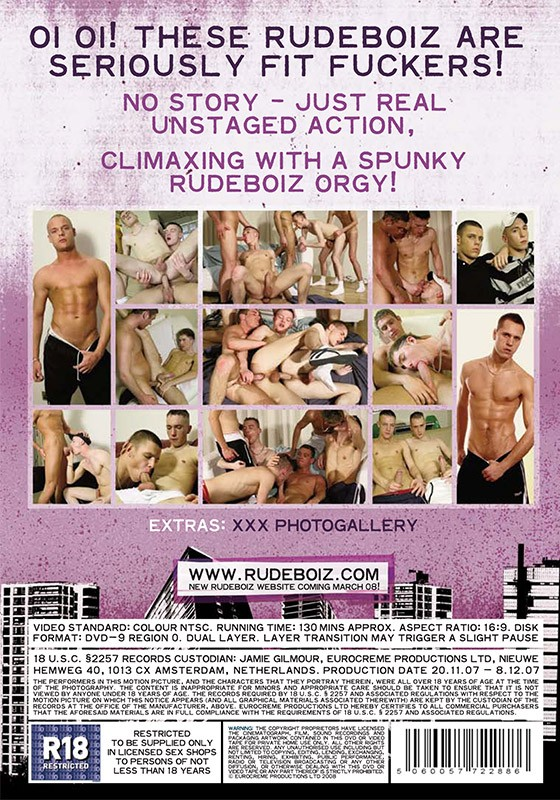 Rudeboiz 9: Fit Fuckers DVD - Back