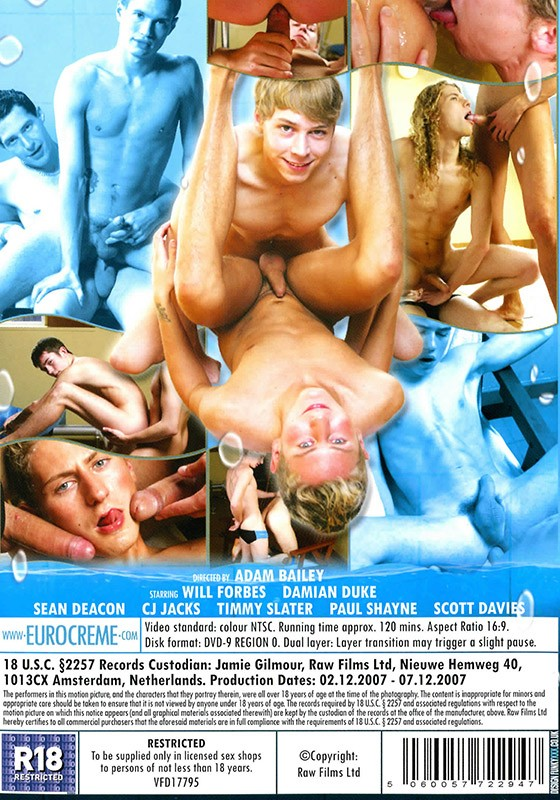 Bareback Swim Team (Staxus) DVD - Back
