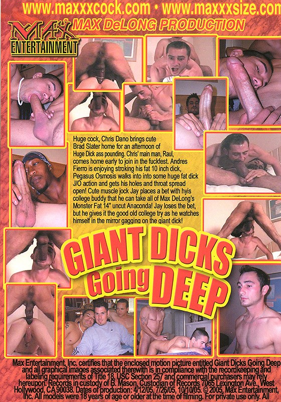 Giant Dicks Going Deep DVD - Back
