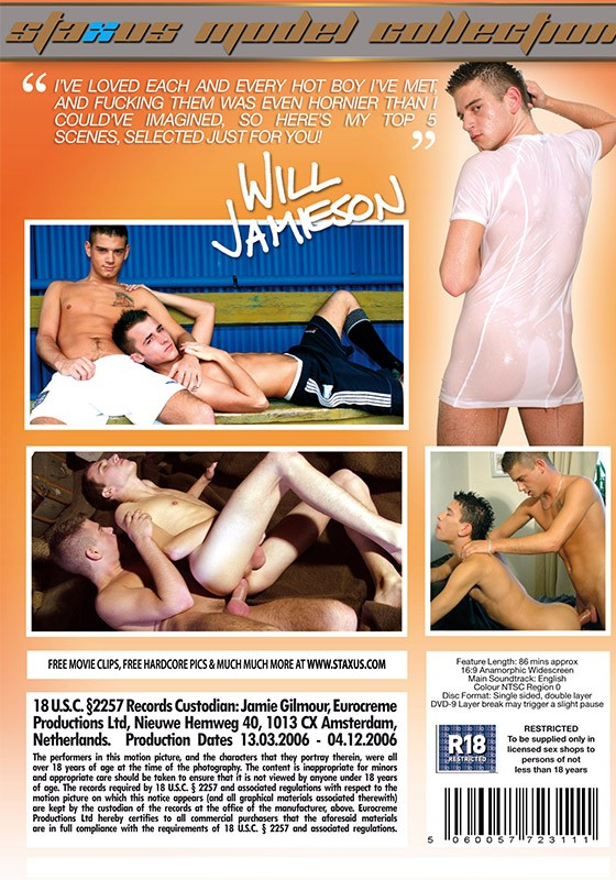 Staxus Model Collection 09: Will Jamieson DVD - Back