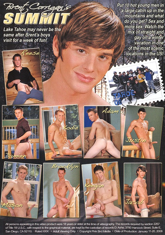 Brent Corrigan's Summit DVD - Back