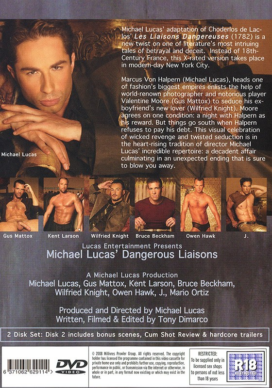 Dangerous Liaisons DVD - Back