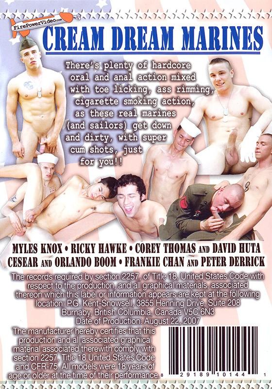 Cream Dream Marines DVD - Back