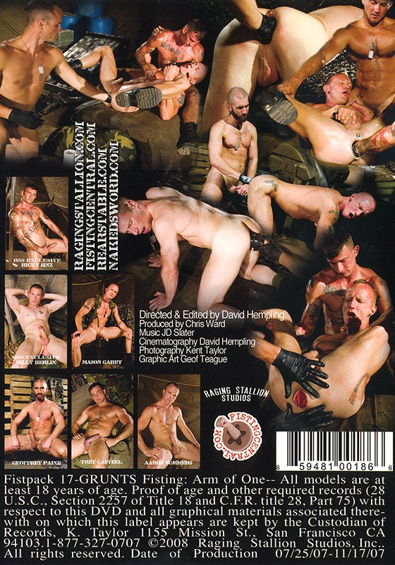 Grunts Fisting: Arm of One DVD - Back