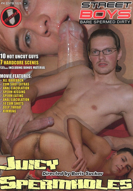 Juicy Spermholes DVD - Front