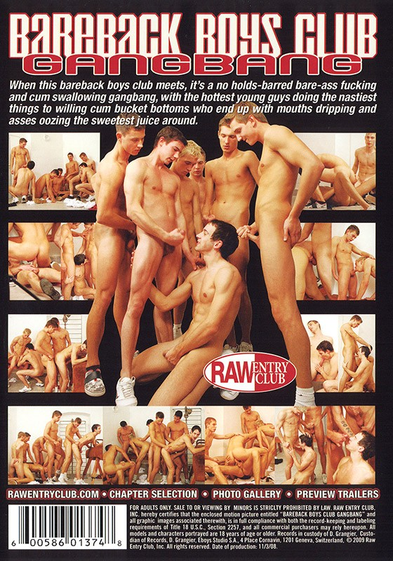 Bareback Boys Club Gangbang DVD - Back
