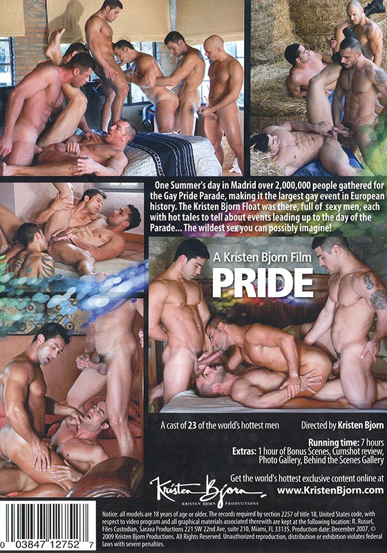 Pride parts 1 & 2 DVD - Back