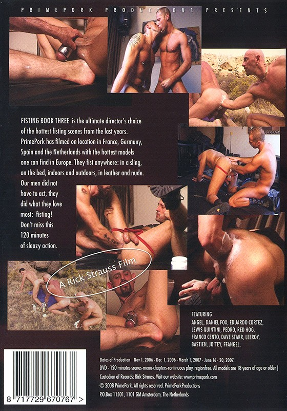 Fisting Book 3 DVD - Back