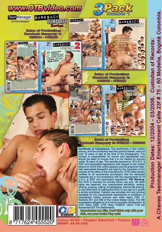 Bareback Cumparty 1-3 DVD Pack - Back