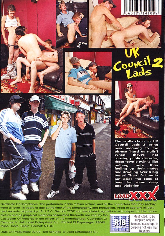 UK Council Lads 2 DVD - Back