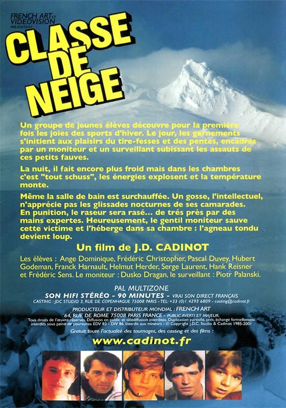 Classe De Neige DVD - Back