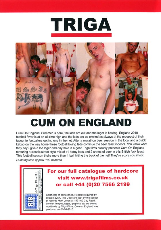 Cum on England DVD - Back