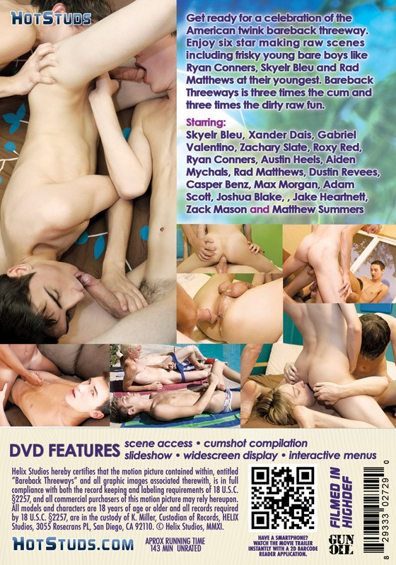 Bareback Threeways DVD - Back