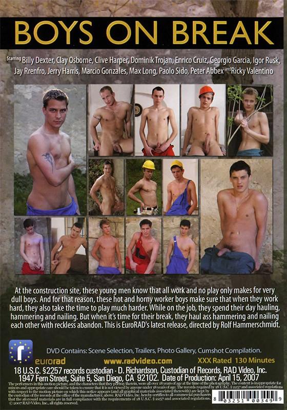 Boys On Break DVD - Back