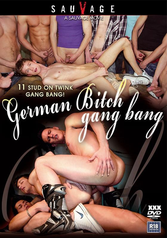 German Bitch Gang Bang DVD - Front