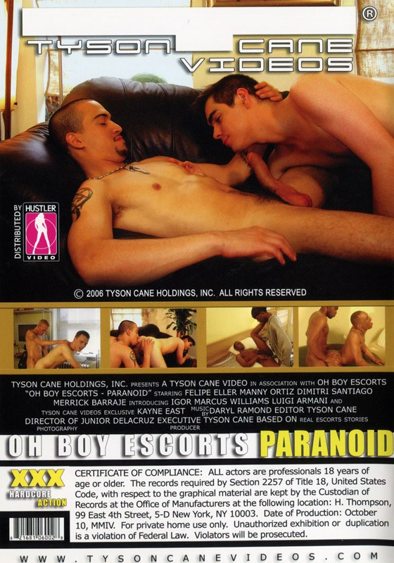 Oh Boy Escorts: Paranoid DVD - Back