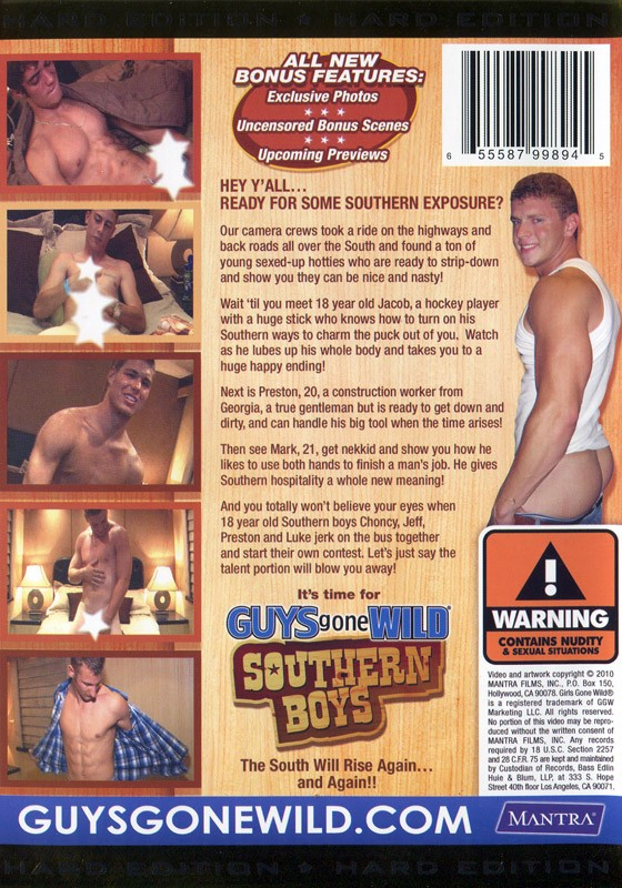 Guys Gone Wild: Southern Boys DVD - Back