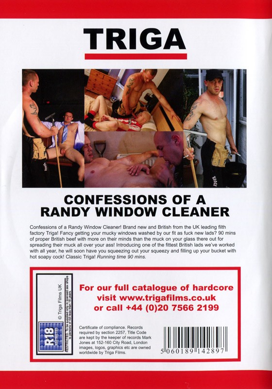 Confessions Of A Randy Window Cleaner DVD - Back