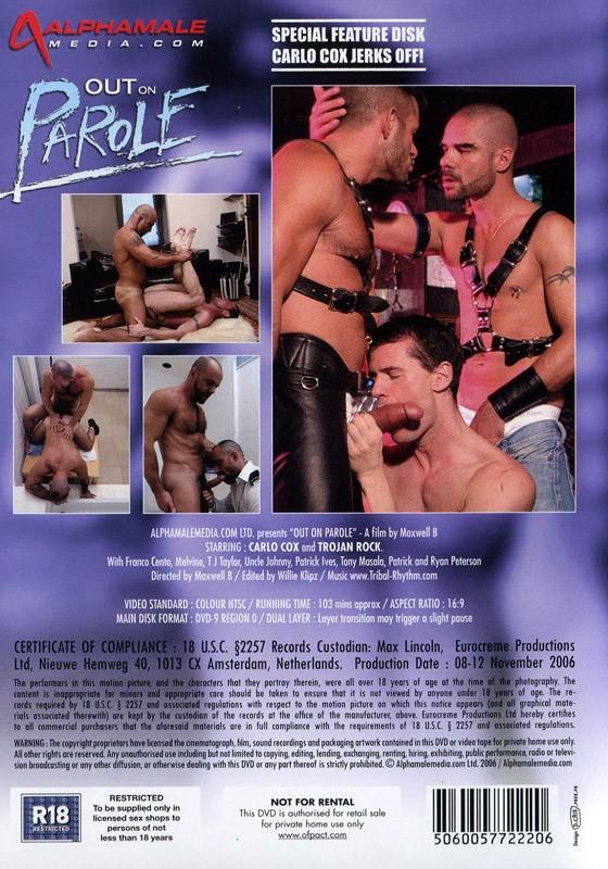 Out On Parole DVD - Back