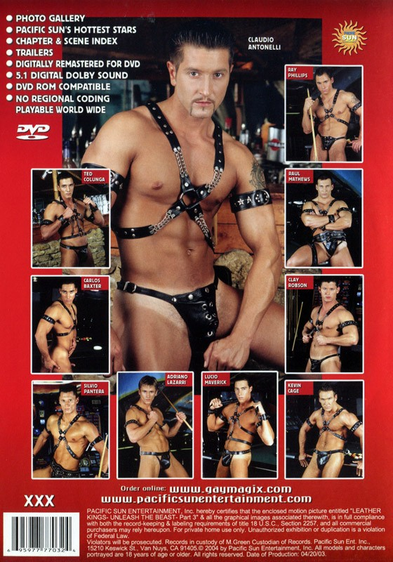 Leather Kings: Unleash the Beast Part 3 DVD - Back
