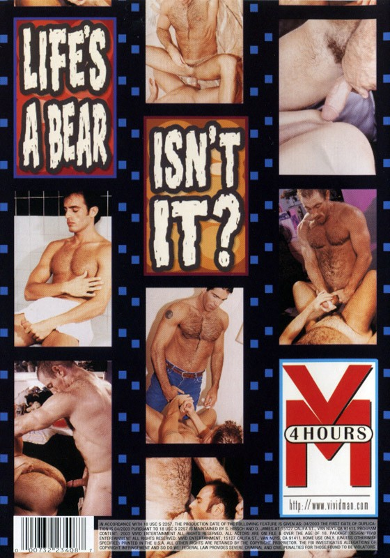 Bear Ass DVD - Back