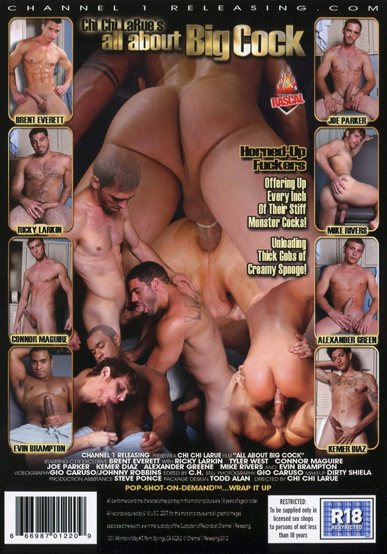 All About Big Cock DVD - Back