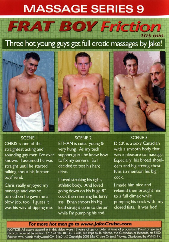 Massage Series 9: Frat Boy Friction DVD - Back