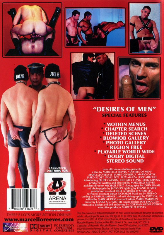 Desires of Men DVD - Back