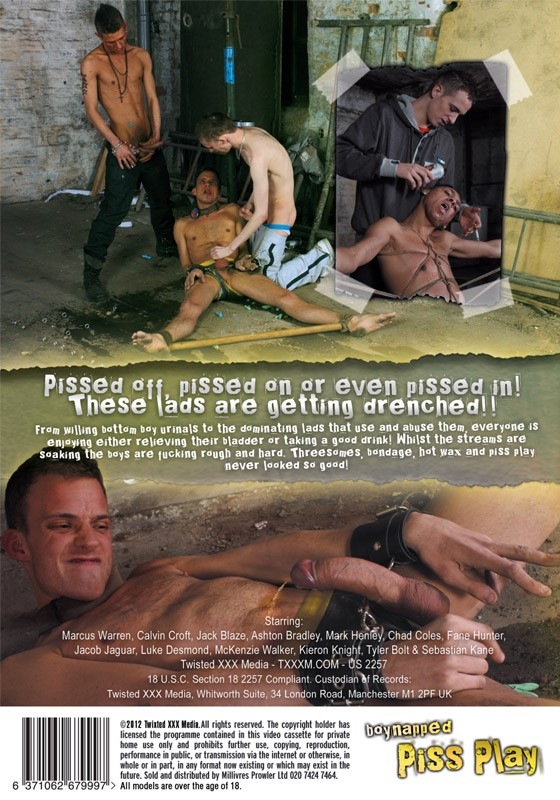 Boynapped 5: Piss Play DVD - Back