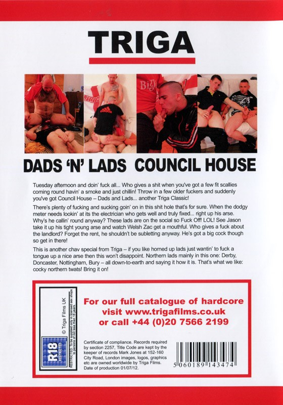 Dads 'n Lads: Council House DVD - Back