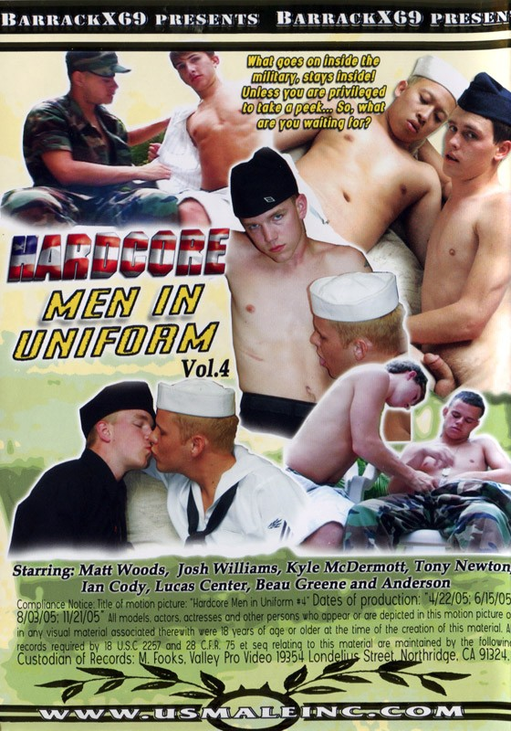 Hardcore Men in Uniform Vol.4 DVD - Back