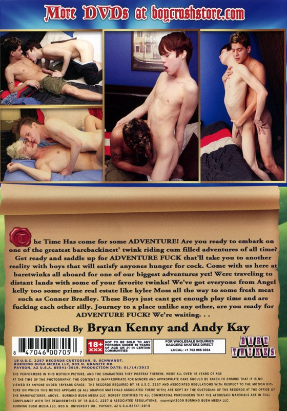 Adventure Fuck DVD - Back